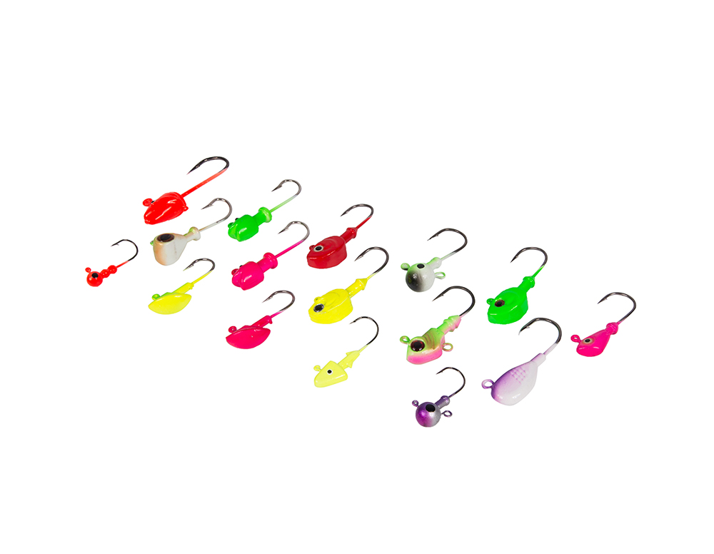 Anzuelos de pesca para Walleye Crappie Bass Trout Multiweight Sharp Jig Hooks